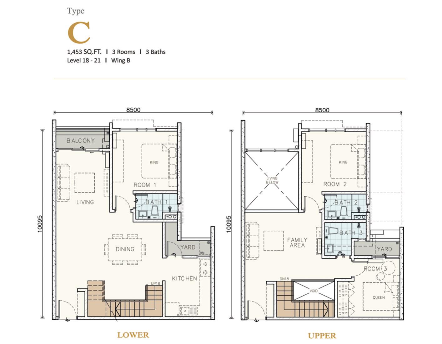 Type C Duplex (1453 sq.ft)